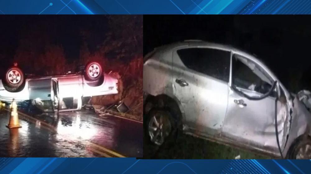 Dois acidentes são registrados em estrada vicinal; Uma pessoa morreu