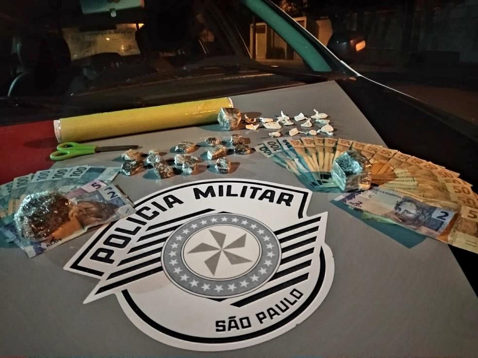 Com apoio do Canil, PM localiza porções de cocaína e maconha e duas pessoas são presas em Osvaldo Cruz