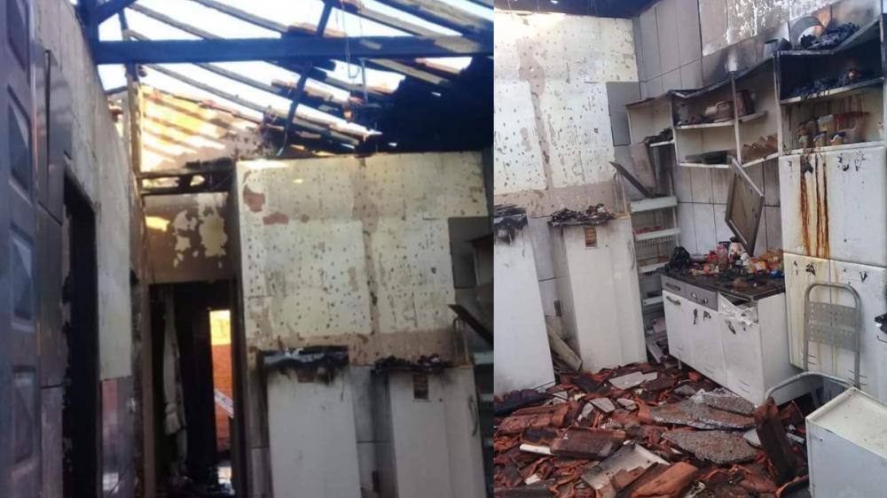 Casa pega fogo em Parapuã e moradores buscam doações