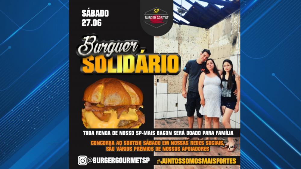 Hamburgueria de Parapuã realizará no sábado a venda do Burger Solidário para ajudar família afetada por incêndio