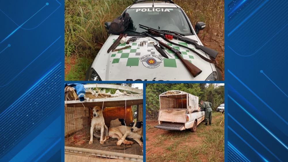 Polícia Militar Ambiental flagra caçadores em Parapuã e prende dois por porte de arma